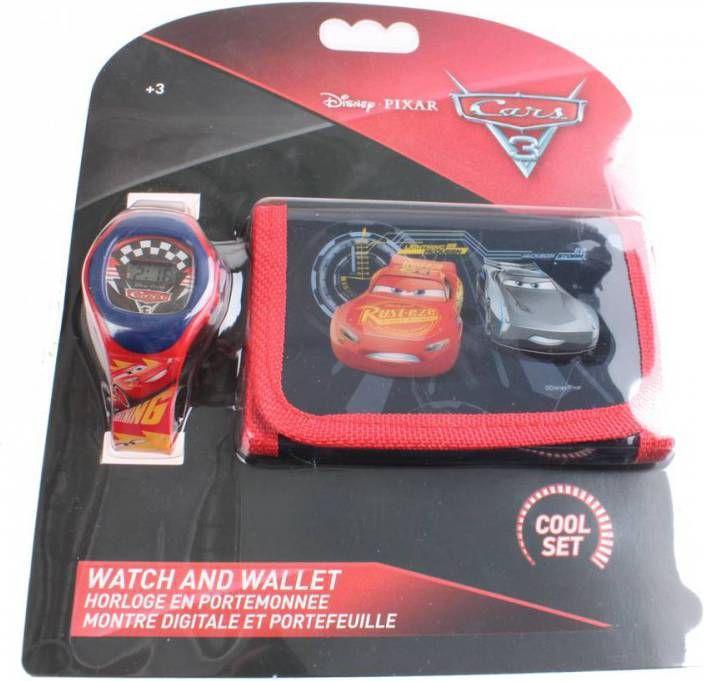 Disney Cars 3 set portemonnee & horloge
